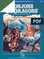 D&D Module X7 Les pirates de Kron V1