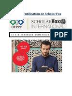 Guid d'Utilisation Scholarvox