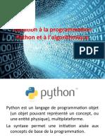 Initiation Python