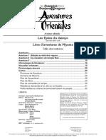 AD&D1 Module OA1 Les sabres du Daimyo Livret 2
