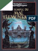 AD&D2 Le Temple du Mal Elémentaire T1-4 Restauré V1a