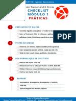 Checklist Exercícios - Formação PNL - Módulo 1