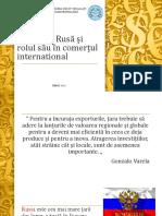 Federația Rusă Și Rolul Său În Comerțul International