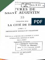 Cité de Dieu Augustin Livres I-V