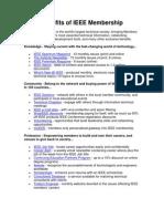 Benefits of IEEE Membership