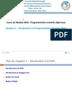 M32_Chapitre 1-Introduction à la POO