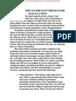 WINNING TIPS OF TACKLING PREMATURE EJACULATION