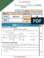 Controle 1 . 2 S2 PC 1bac FR (Www.AdrarPhysic.Fr)