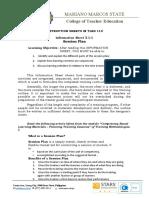 Info Sheet 3.1-1 (TLED 113)