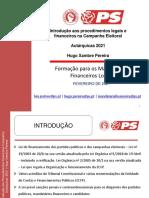 2021 Autarquicas Introdução Aos Procedimentos Legais e Financeiros Campanha