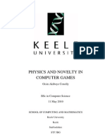 Oisin A. Conolly - Physics and Novelty in Computer Games
