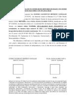 DECLARACION JURADDA NO TENER HIJOS MENORES NI MAYORES CON DISCAPACIDAD - FLORES CUEVA