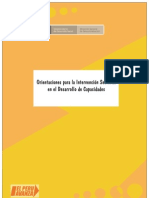 Documento Orientaciones para la Intervención Sectorial en Fortalecimiento de Capacidades