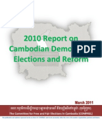 COMFREL - 2010 Report on Cambodia Democracy, Elections and Reform
