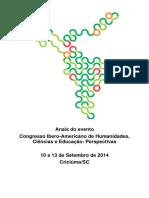 Anais Congresso Ibero Americano 2014