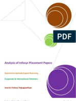 Analysis of INFOSYS Placement Papers