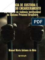 Audiência de Custódia e Cultura Do Encarceiramento Manuel Maria