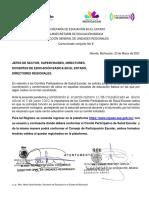 Comunicado conjunto 8 COMITÉS  PARTICIPATIVOS DE SALUD ESCOLAR