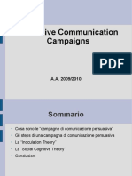 Persuasive Communication Campaigns