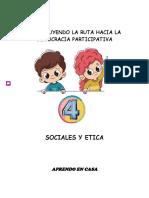 GUIA DE APRENDIZAJE 1 GRADO CUARTO SOCIALES Y ETICA PERIODO I (01 - 26 Feb)