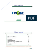FinCorp Eng Profile  October 2010 [Compatibility Mode]
