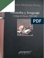 Merleau-Ponty, Maurice (2016) - Filosofía y lenguaje