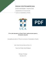 el rol del educador de Paulo Freire