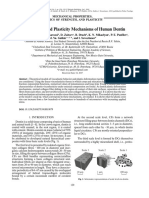 Viscoelasticity and Plasticity Mechanisms of Human Dentin