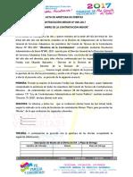Modelo de Acta de Apertura de Oferta - 2017