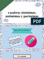 Sinónimos, Antónimos y Parónimos (1)