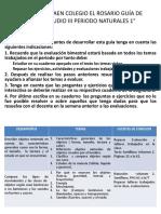 GUÍA DE ESTUDIO 1° III PERIODO NATURALES