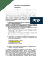 TALLER DE PLAN DE LOS NEGOCIOS INTERNACIONALES