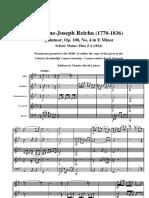Reicha, A. 5teto Op.100 n.4 in E m Partitura General