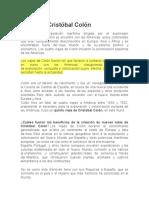 Apuntes de Cristobal ColÓN