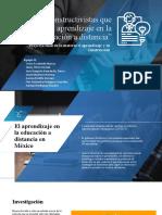 Proyecto - Estrategias Constructivistas Favorables en La Educación a Distancia en México