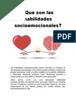 Que Son Las Habilidades Socioemocionales
