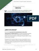 Ciencia_ definición, objeto de estudio y características