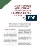 ARGUMENTACIÓN INTERPRETATIVA Y ARGUMENTACIÓN EQUITATIVA- CONTRA EL CREACIONISMO JUDICIAL Luigi Ferrajoli