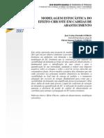 Modelagem Estocástica do Efeito Chicote em Cadeias de Abastecimento