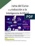 Programa Curso Introduccion a la IA