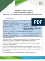 Syllabus del curso Comercio de productos agroforestales
