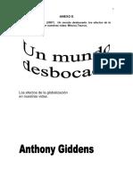 Giddens - Un mundo desbocado modulo 3