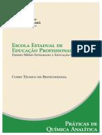 Biotecnologia Praticas de Quimica Analitica