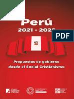 Perú 2021-2026 Propuesta de Gobierno Desde El Social Cristianismo