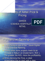 Concepts of Retail Price & Pricing