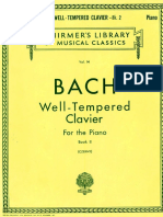 Bach o Cravo Bem Temperado Livro 2