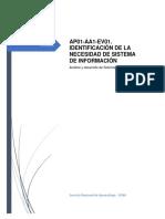 Ap01-Aa1-Ev01. Identificación de La Necesidad de Sistema de Información