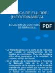 Gasto, Ecuación de Continuidad, Teorema de Bernoulli