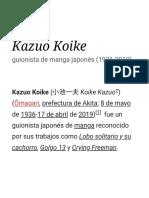 Kazuo Koike - Wikipedia, La Enciclopedia Libre