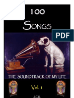 100 Songs. The Soundtrack of My Life